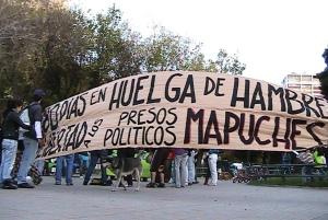 Demonstration zur Unterstützung der hungerstreikenden Mapuche