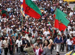 Kolumbiens Indigene demonstrieren für mehr Mitbestimmung und Respekt (Foto: www.semana.com)