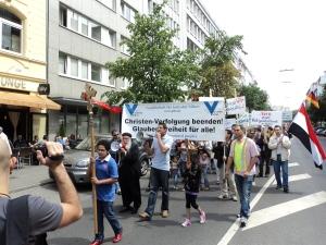 Menschenrechtsaktion gegen Christenverfolgung im Nahen Osten in Düsseldorf 2011