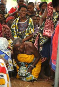 Zeremonie von Giriama-Ältesten