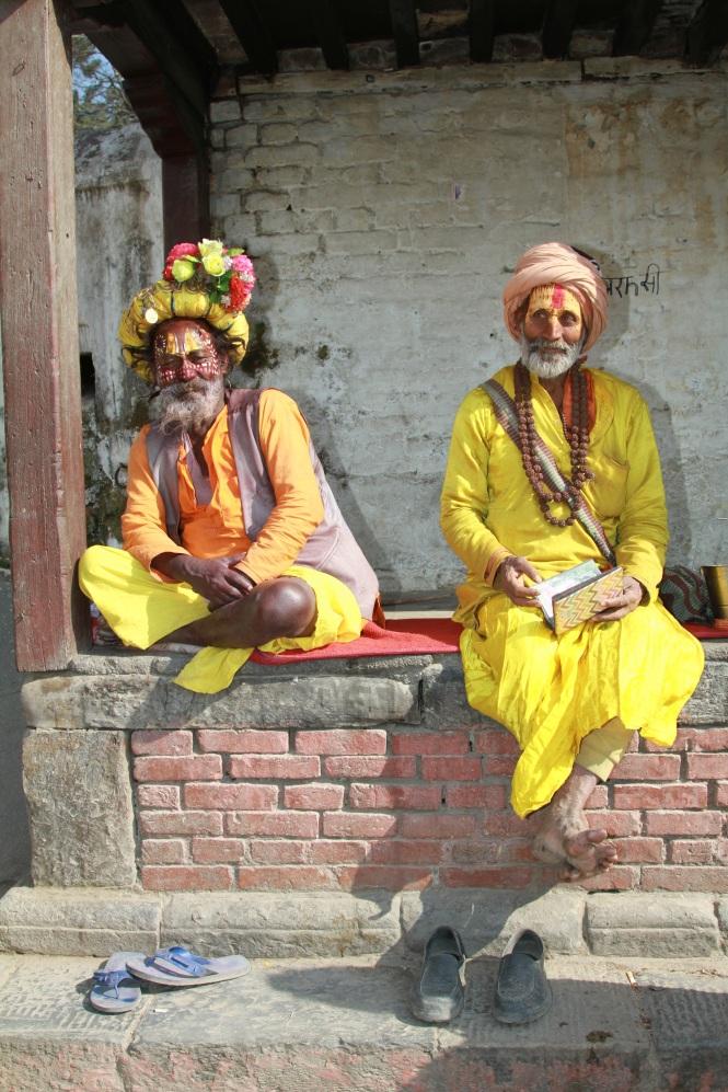 Werner - Sadhus am Hindutempel in Kathmandu_klein