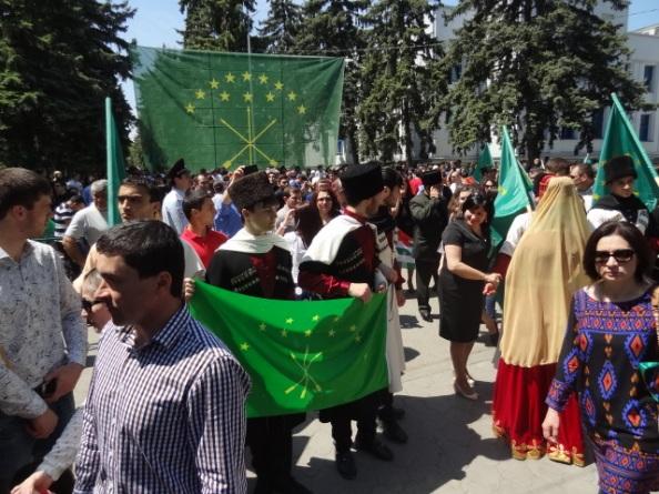 Gedenkdemonstration, Nalchik(Russland), am 21.05.2015