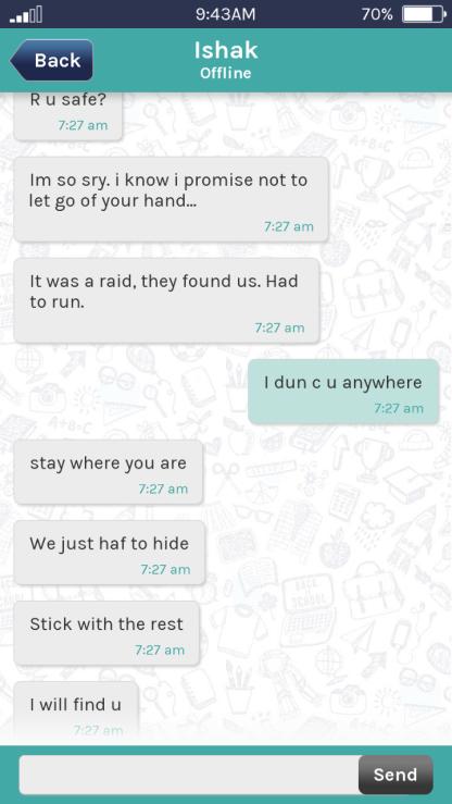 Screenshot aus der App